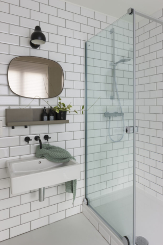 Interieur badkamer. Interior design bathroom.